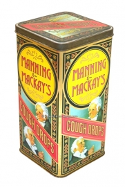 Vintage Blechdose Manning & Mackay's Cough Drops