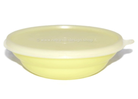 Vintage Tupperware pastel colored cereal bowl, yellow