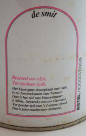 Juego de cuatro latas de almacenaje vintage de Estel Hoogovens, varias manualidades.