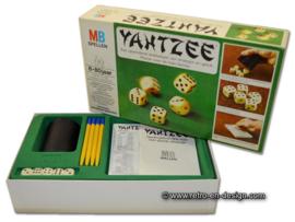 Vintage Yahtzee dobbelspel van MB uit 1976