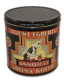 Ronde winkelvoorraad bus voor koffie van Douwe Egberts