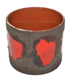 Pot de fleurs vintage des années 60/70 en poterie de l'Allemagne de l'Ouest