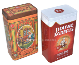 Set of two Douwe Egberts coffee tins