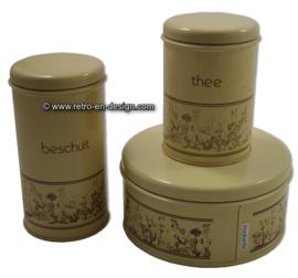 Vintage Brabantia Blechdose für Keks, Zwieback und Tee