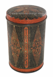 Vintage cylindrical coffee canister made by Tiktak coffee in Groningen (NL)