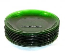 Arcoroc Sierra green. Sandwich plate Ø 19 cm.