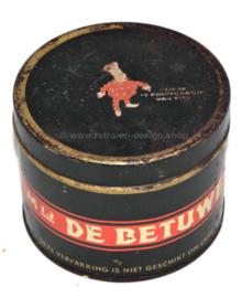 Vintage lata estaño De Betuwe, Conpura prima rinse appelstroop con Flipje de Tiel