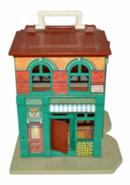 Vintage Fisher Price Little People Sesame Street apartments from 1974