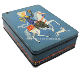 Vintage tin by Verkade with a princess on a white horse