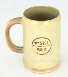Pottery beer mug from the 1960s, Amstel Bier