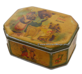 "Vintage tin ""The Three Bears"" 1940s"