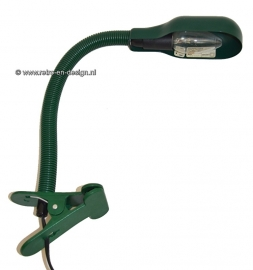 Happy Light Holland Industrial Mid Century vintage groene zwanenhals bureaulamp met klem