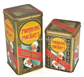 Ensemble de deux boîtes vintage pour Mannings & Mackay's Cough Drops