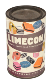 Vintage tin Limecon Oosterwolde (F.R.) Holland