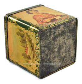 Boîte verte carrée pour le thé en forme de cube par co-op