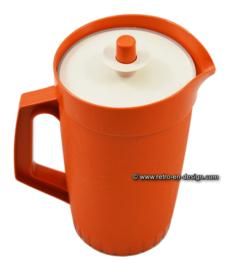 Vintage Tupperware schenkkan, terra (oranje/bruin)