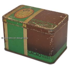 Vintage blik De Gruyter's Cacao Groenmerk