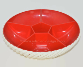 Vintage 60s / 70s snack bowl from Emsa in red and white