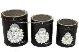 Set of three vintage tins Pierrot – Pierrette – Tristan - Tristesse