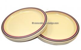 Vintage Rosti Mepal servies,borden. Design Koen de Winter
