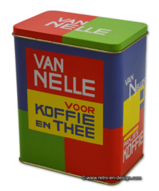 Vintage Dutch van Nelle tin for Coffee and Tea