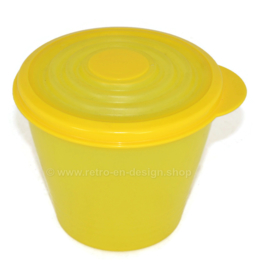 "Contenedor adaptable Tupperware vintage ""Stuffable"" con tapa de armónica ajustable"