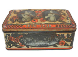 Vintage Jubilee tin in honor of the 40th anniversary of Queen Wilhelmina in 1938