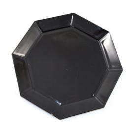 Großes Serviertablett, Platte oder Vorspeisenteller von Arcoroc France, Octime schwarz Ø 32 cm