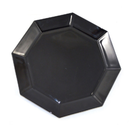 Bandeja grande para servir, plato o plato de aperitivo de Arcoroc France, Octime negro Ø 32 cm