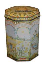 Vintage récipient de stockage octogonale  de Brinta