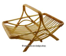 Vintage bamboe, rotan tafelmandje