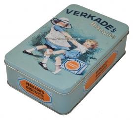 Vintage biscuit tin Verkade's biscuits