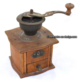 Old antique C.A.L. hand coffee grinder