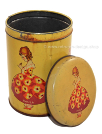 "Vintage biscuit tin ""Paula"", by bakery Paul C. Kaiser 1930-1950"
