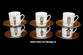 Coffee cups and saucers 'Clocks Dinnerware' by Nutroma