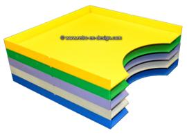 Plastic SOMIN platenbakken, opbergbakken voor elpees