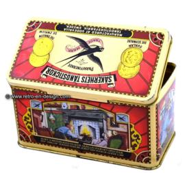 "Vintage Lucifersblik Zwaluw ""Säkerhets Tändstickor"" sinds 1895"