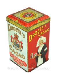 Vintage Droste Kakaodose mit Krankenschwester mit Tablett, netto 1/2 KG