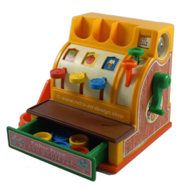 Vintage Fisher Price Cash Register, speelgoedkassa uit 1974