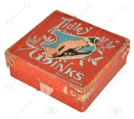 Vintage Tidley Winks oud vlooienspel, begin 20e eeuw
