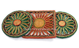 Three vintage raffia / wicker pot coasters in different colors from the 60s and 70s