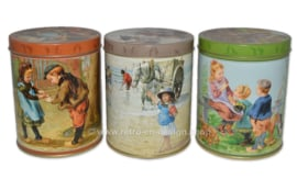 "Set of three tins with images ""Ot en Sien"" by Jamin"