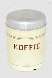 Brocante geëmailleerde blikken voorraadbus voor koffie