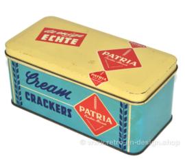 Lata vintage de galletas de crema Patria El único