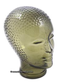 Vintage jaren '70 glazen hoofd, rookglas