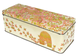 Vintage biscuit tin with bees and beehive for honey gingerbread by Verkade