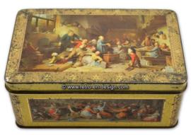 Blikken trommel voor DE GRUYTER met diverse afbeelding van schilderijen