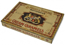 Vintage old tin by S. Maas & Zonen Rotterdam Cream Caramels