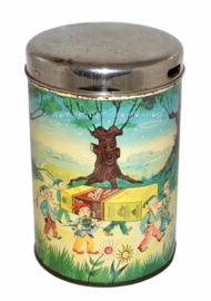 Vintage Brinta canister with pouring opening and removable lid