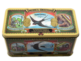 Tin box for Zwaluw matches with images of different swallows